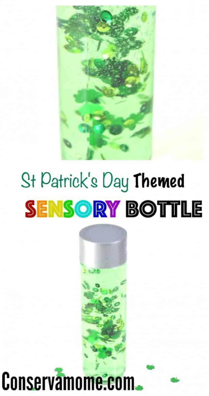 St.Patrick's Day Themed Sensory Bottle Tutorial