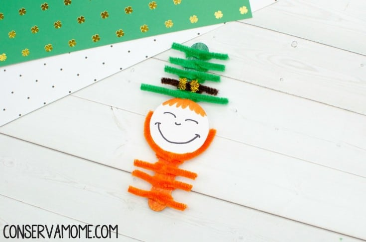 Pipe Cleaner and Popsicle Stick Leprechaun : DIY Leprechaun Craft