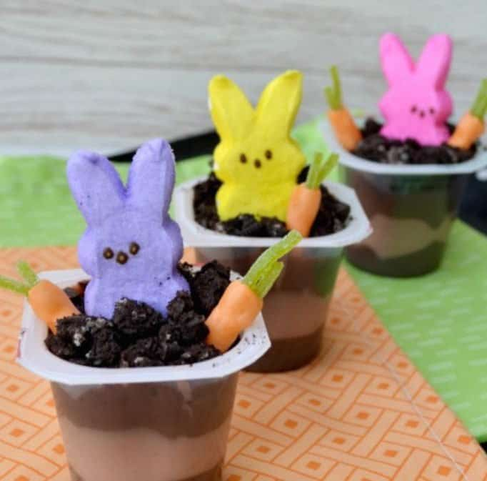 Quick and Easy Peeps Oreos Pudding Cups – Great for Spring and Easter!