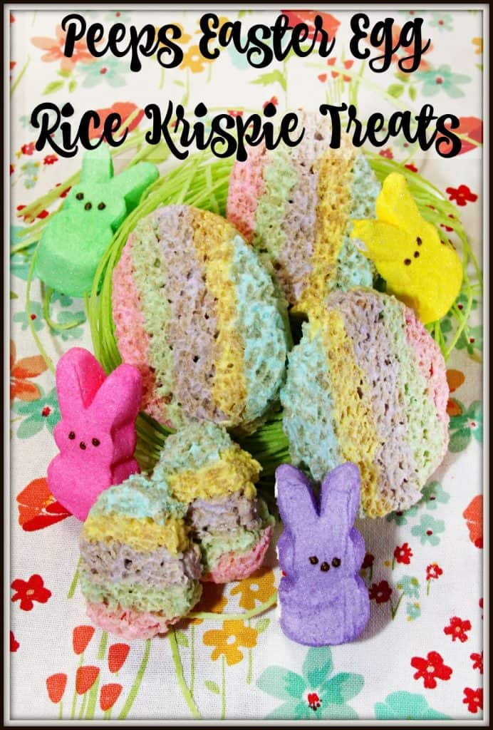 Peeps Easter Egg Rice Krispie Treats