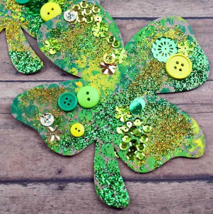 Kids Shamrock Craft for St. Patrick's Day