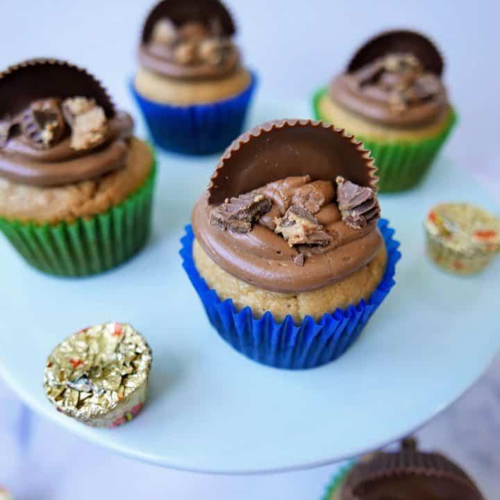Nutella Peanut Butter Cupcakes